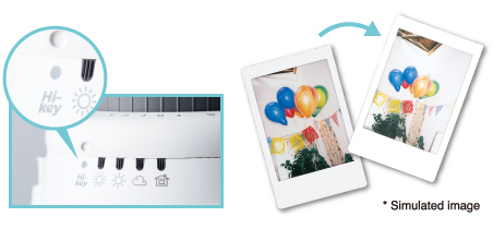 Le High Key de l'Instax Mini 9